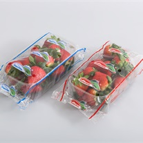 berries - plastic tray with flowpack film