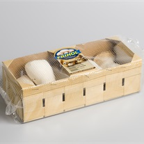 mushroom - cardboard tray with Flow-Fresh